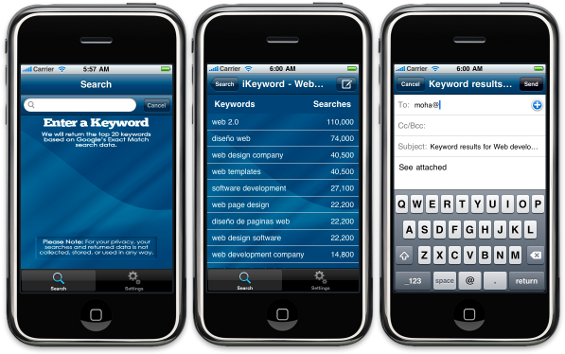 iKeyword iPhone Application